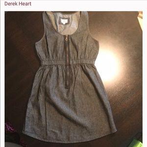 Derek Heart black denim romper